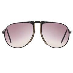 BOGNER c.1980's Purple Tinted Adjustable 7001 Eschenbach Aviator Ski Sunglasses