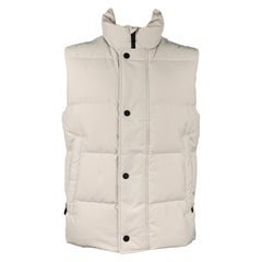 BOGNER Size 40 Light Gray Quilted Polyester / Polyamide Vest