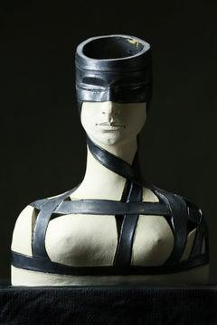 Bogulaw Popowicz, Unique Portrait, Glazed Ceramic Sculpture 42x33x20cm 2016