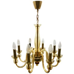 Bohemian Chandelier Handcrafted Amber Crystal Murano, 8 Light Arms