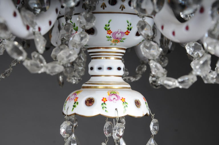 Bohemian Crystal Lustres / Candlesticks, Second Half of the 20th Century For Sale 4