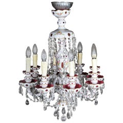 Bohemian Crystal Lustres / Candlesticks, Second Half of the 20th Century