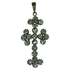 Bohemian Crystal Pontifical Crucifix