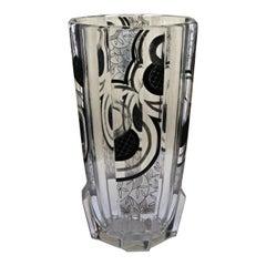 Bohemian Deco Glass Vase