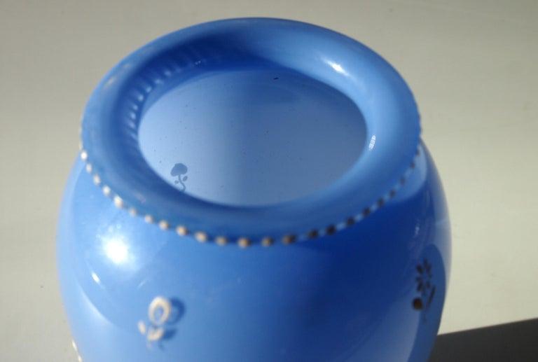 Bohemian Enamelled Loetz Blue Tango Glass Vase by Dagobert Peche In Good Condition For Sale In London, GB