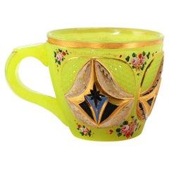 Bohemian Glass Jug Made for the Persian Islamic Market, 19th Century