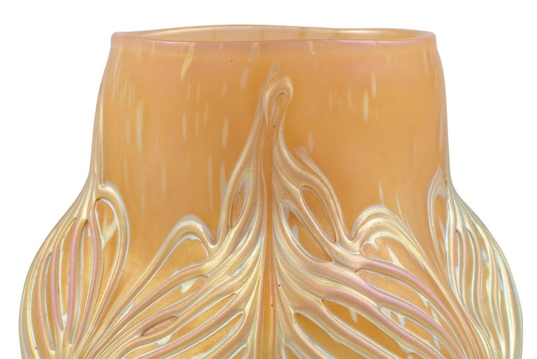 Bohemian Glassworks Johann Loetz Witwe Vase Unknown Decor circa 1900 Mouthblown In Excellent Condition For Sale In Vienna, AT