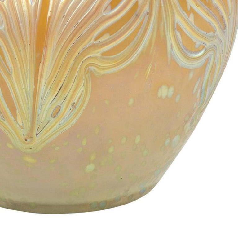 Bohemian Glassworks Johann Loetz Witwe Vase Unknown Decor circa 1900 Mouthblown For Sale 2