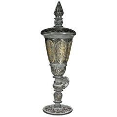 Bohemian Goblet Baroque Motive, 19th-20th Century