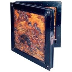 Bohemian Late 17th Century Walnut and Fruitwood Folding Games Board