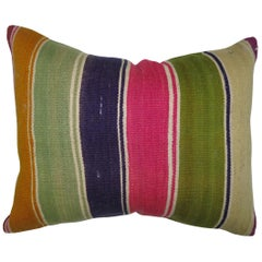 Bohemian Lumbar Turkish Kilim Pillow