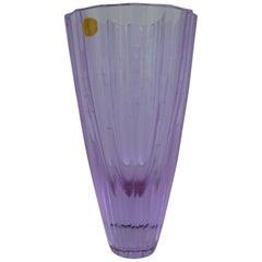 Bohemian Neodymiun Glass Vase for Zelezdroske Sklo Czechoslovakia, 1960s