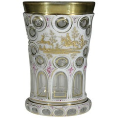 Bohemian Opal Overlaid Goblet Hunting Motive, 19th Century