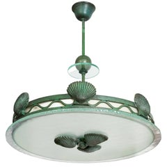 Bohlmarks Shell Pendant Fixture Swedish Art Deco