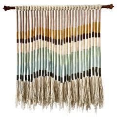Boho Chic Earth Tone Natural Wool Wall Hanging