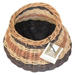 Boho Chic Handcrafted Woven Reed and Seagrass Nancy Basket by Paulette Lenney