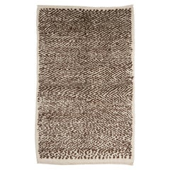 Tulu Rug, 100% Natural Un-Dyed Wool. Cream and Brown. Custom Options Available