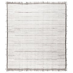 Modern and Trendy Boho Chic Rug from Central Asia. Size: 13 ft 1 in x 15 ft 1 in