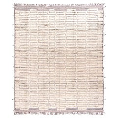 Modern and Trendy Boho Chic Rug from Central Asia. Size: 10 ft 1 in x 12 ft 3 in
