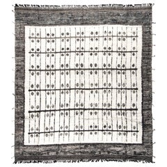Modern & Trendy Boho Chic Rug from Central Asia. Size: 11 ft 5 in x 12 ft 7 in