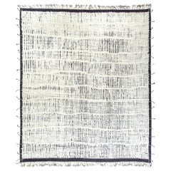 Modern and Trendy Boho Chic Rug from Central Asia. Size: 13 ft 8 in x 15 ft 4 in