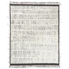 Modern and Trendy Boho Chic Rug from Central Asia. Size: 8 ft 3 in x 10 ft 5 in