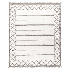 Modern and Trendy Boho Chic Rug from Central Asia. Size: 8 ft 5 in x 10 ft 6 in
