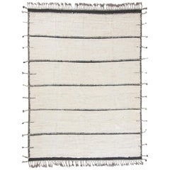 Modern and Trendy Boho Chic Rug from Central Asia. Size: 9 ft 1 in x 12 ft 1 in