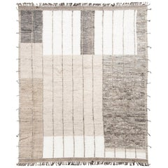 Modern and Trendy Boho Chic Rug from Central Asia. Size: 9 ft 10 in x 12 ft 3 in