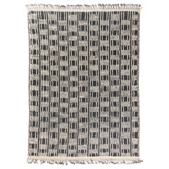 Modern and Trendy Boho Chic Rug from Central Asia. Size: 9 ft 5 in x 13 ft