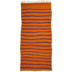 Vintage Berber Moroccan Striped Kilim Rug with Modern Nautical Style