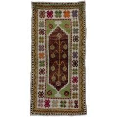 Boho Chic Vintage Turkish Oushak Rug with Modern Tribal Style