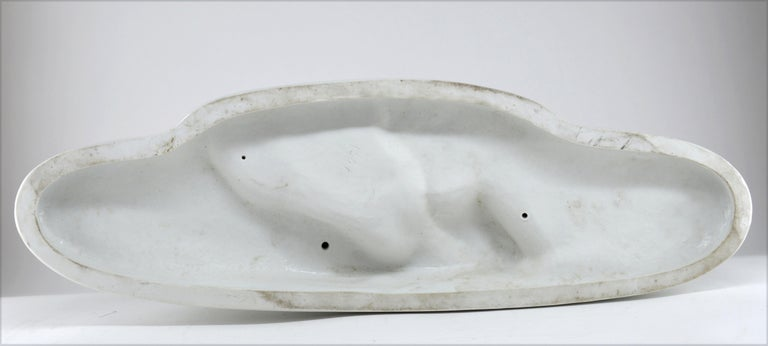 Bohumil Rezl French Art Deco Sculpture in Glazed Porcelain Biscuit, Late 1920s For Sale 3