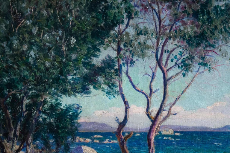 Boiry Camille, Oil on Canvas Provencal Landscape, circa 1920 In Good Condition For Sale In Saint Ouen, FR