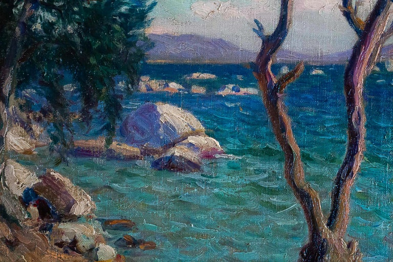 20th Century Boiry Camille, Oil on Canvas Provencal Landscape, circa 1920 For Sale