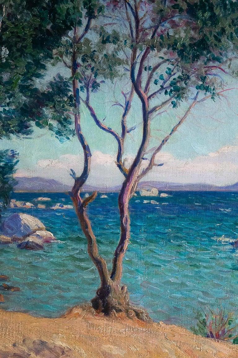 Boiry Camille, Oil on Canvas Provencal Landscape, circa 1920 For Sale 1