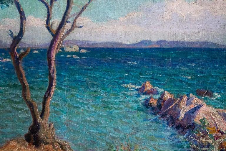 Boiry Camille, Oil on Canvas Provencal Landscape, circa 1920 For Sale 2