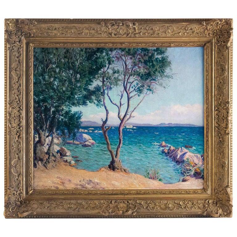 Boiry Camille, Oil on Canvas Provencal Landscape, circa 1920 For Sale