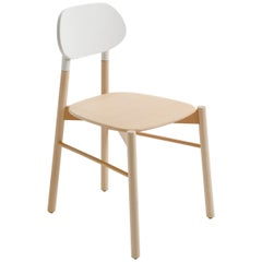 Bokken Chair, Beech Structure White Back, Minimalist Design in Nordic Style