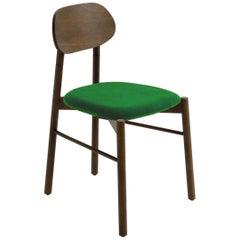 Bokken Chair Canaletto Walnut Upholstered with Mint Green Fine Italian Velvet