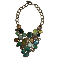 Boks & Baum Paris Turquoise, Agate, Amazonite, and Jade Statement Necklace