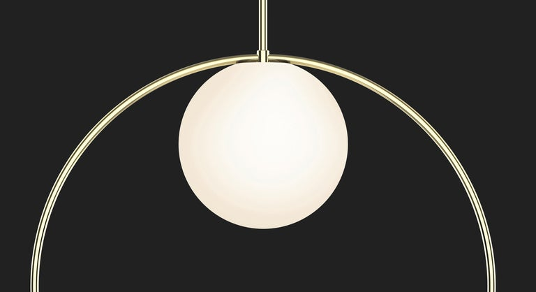 Contemporary Bola Halo Pendant Light by Pablo Designs For Sale