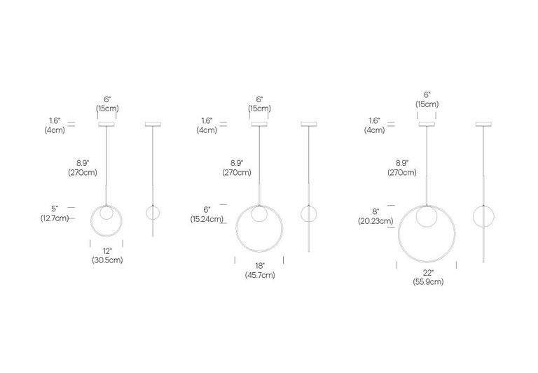 Bola Halo Pendant Light by Pablo Designs For Sale 1