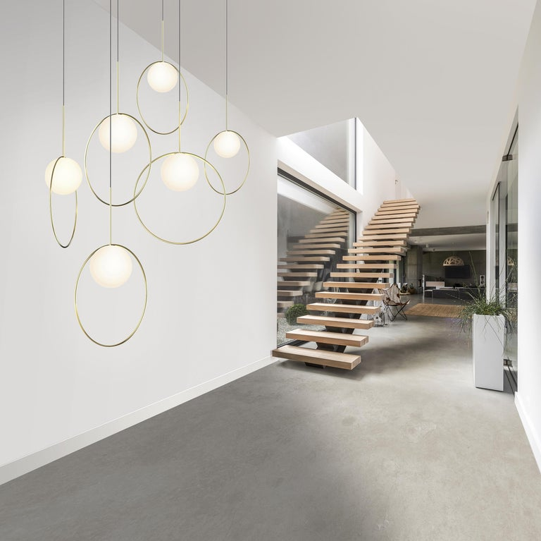 Modern Bola Halo 6-Piece Multi-Light by Pablo Designs For Sale