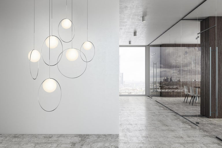 Bola Halo 6-Piece Multi-Light by Pablo Designs In New Condition For Sale In San Francisco, CA