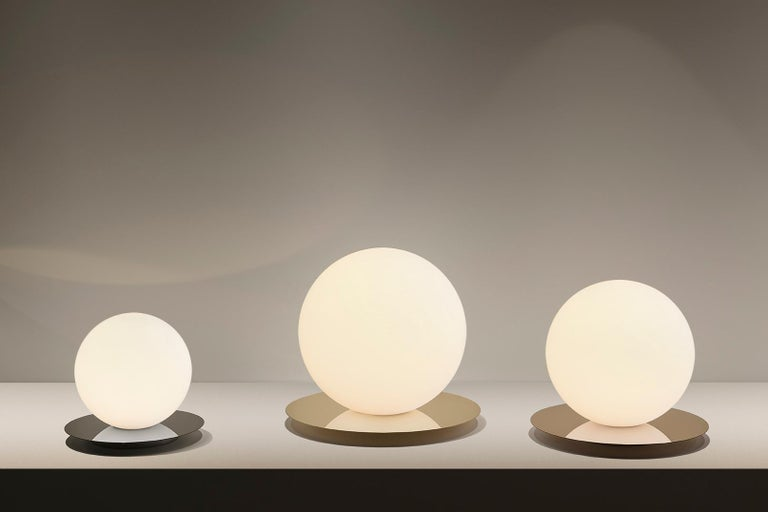 Contemporary Bola Medium Table Sphere Lamp by Pablo Designs For Sale