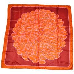 """Bold """"Blooming Floral"""" In Tangerine & Pink Scarf"""