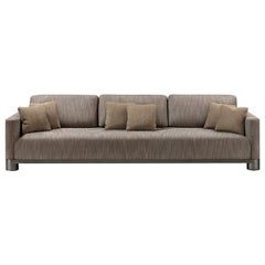 Bold Brown 3-Seater Sofa