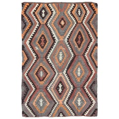 Bold Design and Geometric Design Turkish Flat Weave Kilim Rug