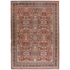 Bold Early 20th Century Mahal Rug
